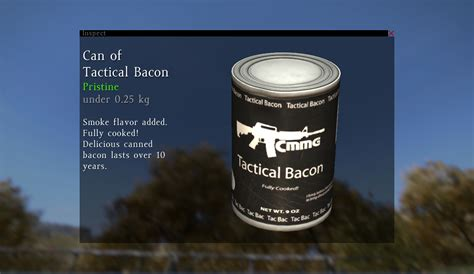 Can of Tactical Bacon(タクティカルベーコン) - DayZ Standalone Wiki(0
