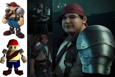 Final Fantasy VII Remake Characters Compared to Their