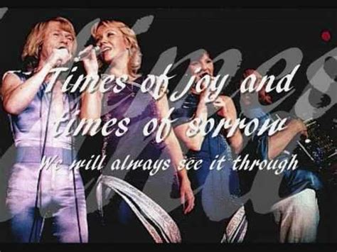 ABBA - The Way Old Friends Do with Lyrics - YouTube