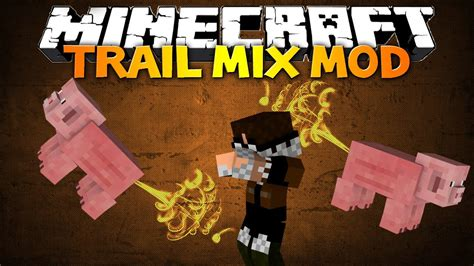 Minecraft: Trail Mix mod - FARTING FLYING PIGS, SUPER